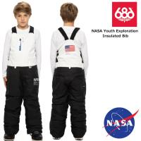 20-21 2021 686 シックスエイトシックス BOYS NASA Youth Exploration Insulated Bib ビブパンツ スノーボード スノーウェア 子供用【JSBCスノータウン】