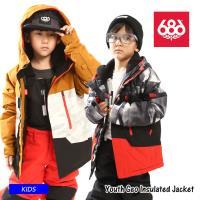 【早期予約販売】21-22 686 シックスエイトシックス Youth Geo Insulated Jacket ジャケット  スノーボード スノーウェア